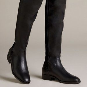 Clarks Boot Pure Caddy Leather Knee High Black 6.5